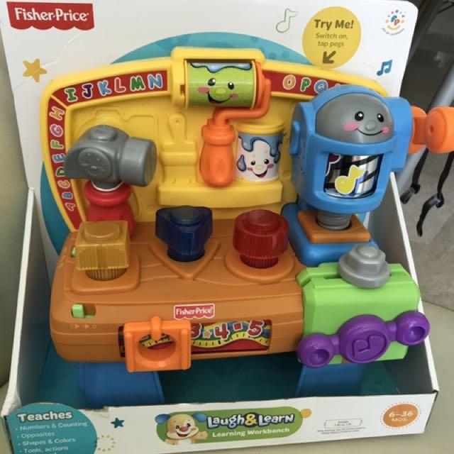 Awe Inspiring Fisher Price Workbench Laugh And Learn Toys Games Inzonedesignstudio Interior Chair Design Inzonedesignstudiocom