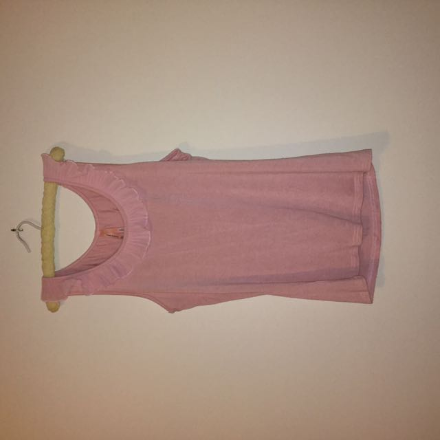 Ally Frilly Pink Singlet Shirt