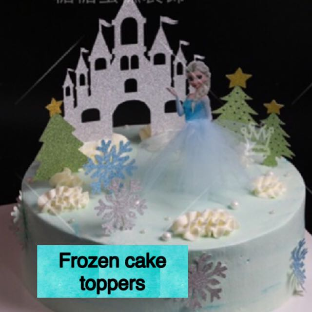 Phenomenal Frozen Birthday Cake Toppers Castle Elsa Snow Flakes Bulletin Funny Birthday Cards Online Elaedamsfinfo
