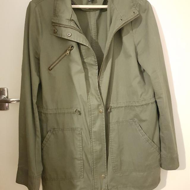 Green Military Parka Coat Forever 21