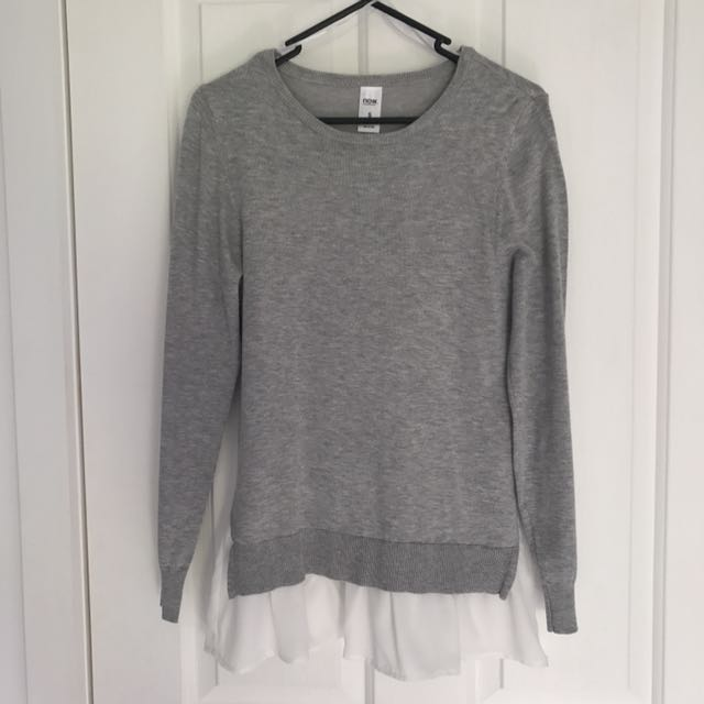 Grey Knit With Blouse