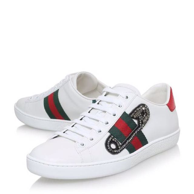 Gucci Ace Safety Pin Sneaker, Luxury