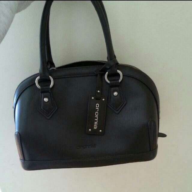Handbag - Cromia, Dark Coffee Coloured