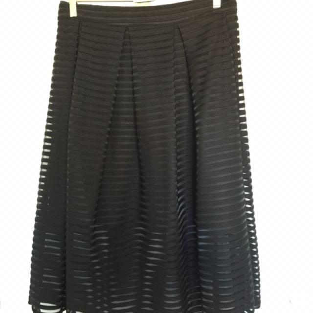 High Waisted Skirt - Black