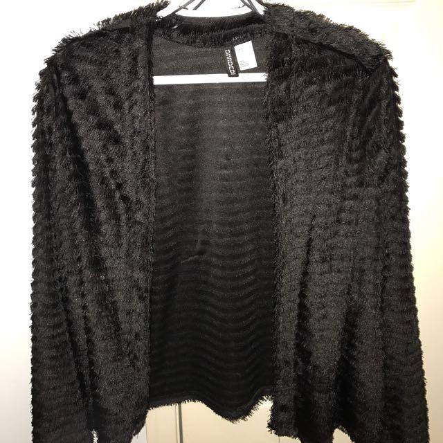 H&M Black Cardigan Size Medium