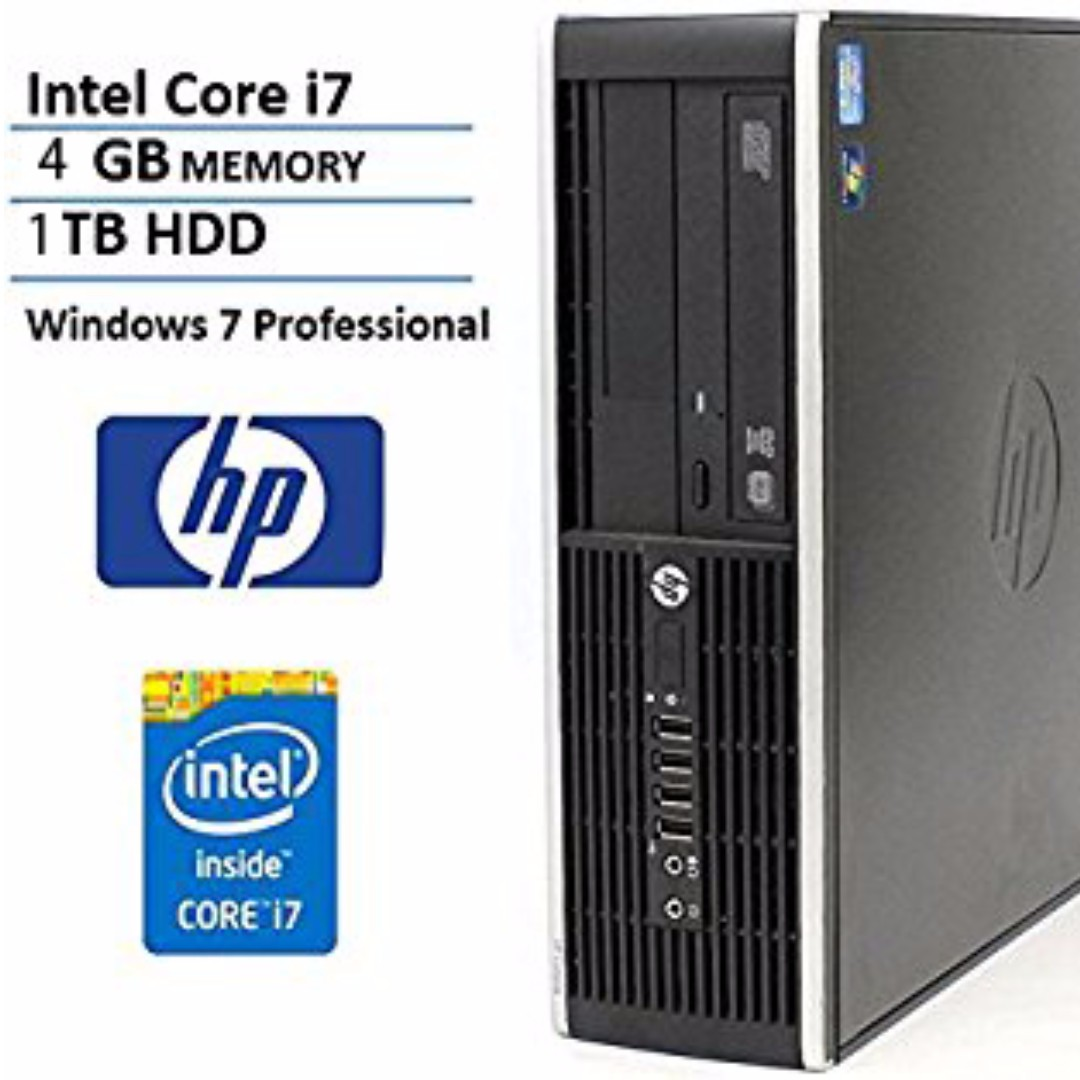 HP Compaq Elite 8200 SFF Intel i7-2600 3 4GHz/4GB memory/ 1TB hard disk/  Nvidia NVS 300 Graphic Win7