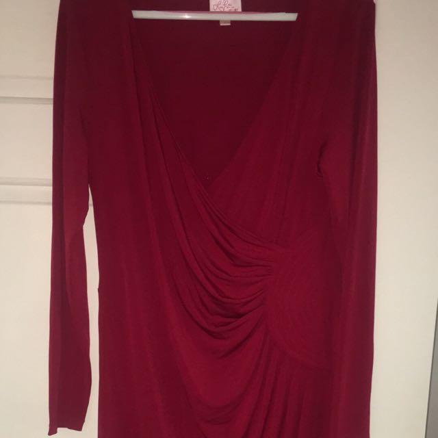 Leona Edmiston Ruby Wrap Dress Size 3