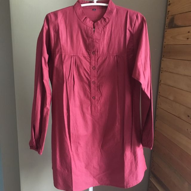 Long Maroon Top