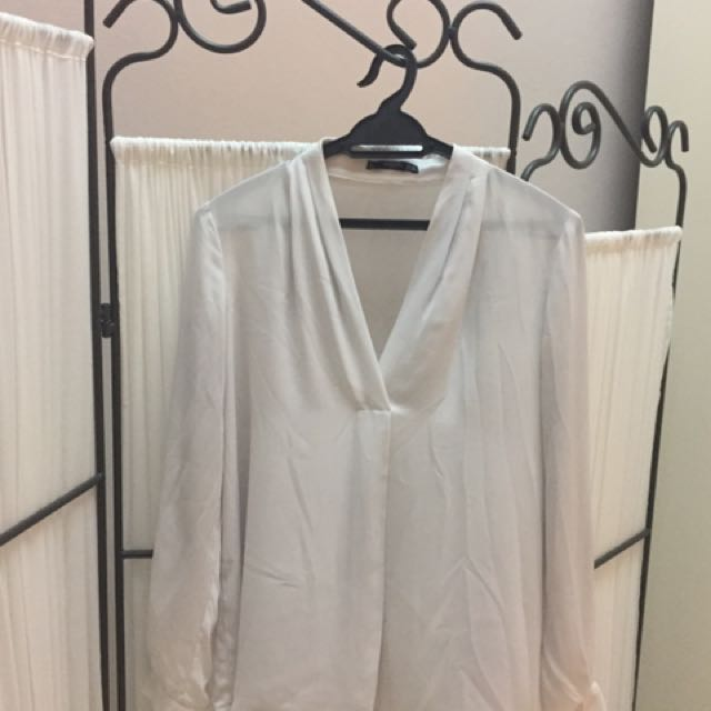 Mango White Blouse