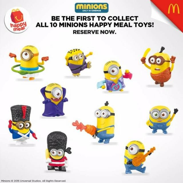2015 Australia Edition Mcdonald S Happy Meal Minion Toy Sealed 14 To Choose From