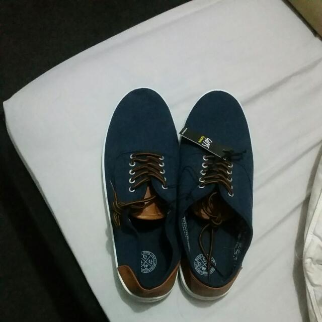 Mens Size 12 Shoes Navy Blue And Tan