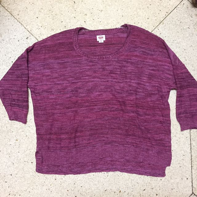Mossimo Purple Knitted Sweater