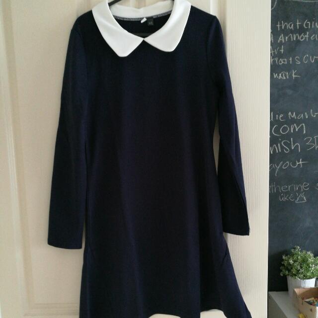 Navy Winter Dress