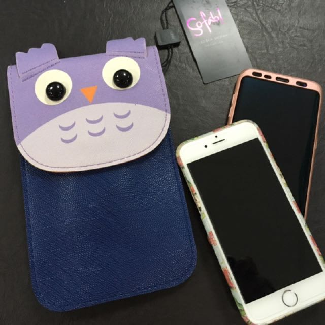 Owl design cellphone sling bag