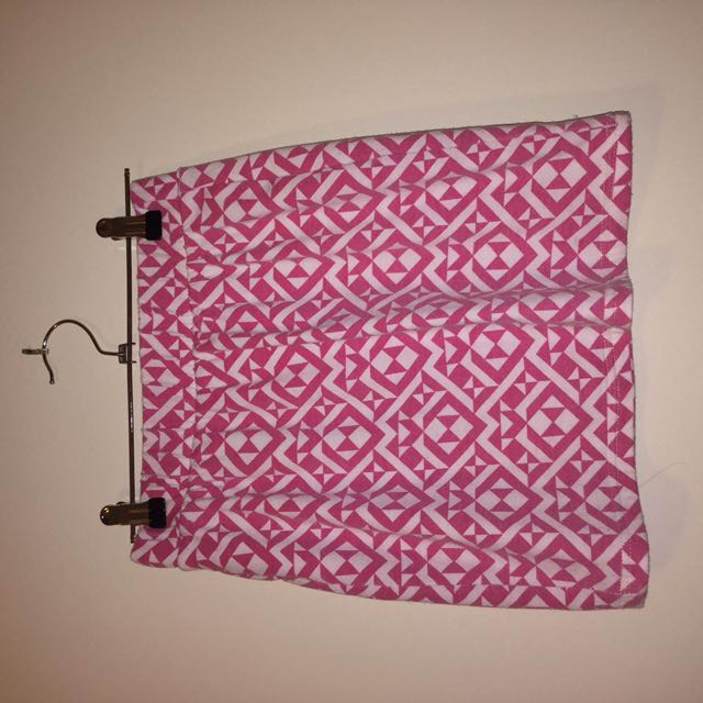 Pink Aztec Pattern Mini Skirt