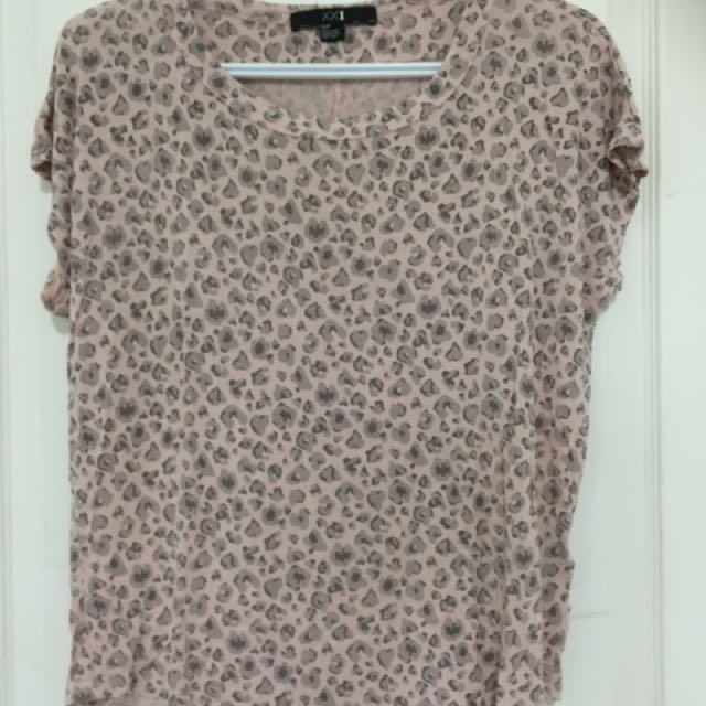 Pink Cheetah Printed shirt From Forever 21