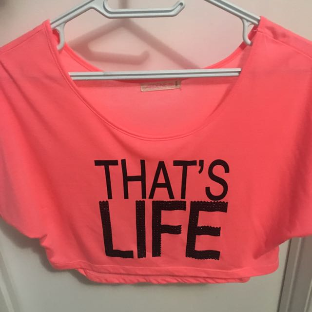 Pink Crop Top Size xs