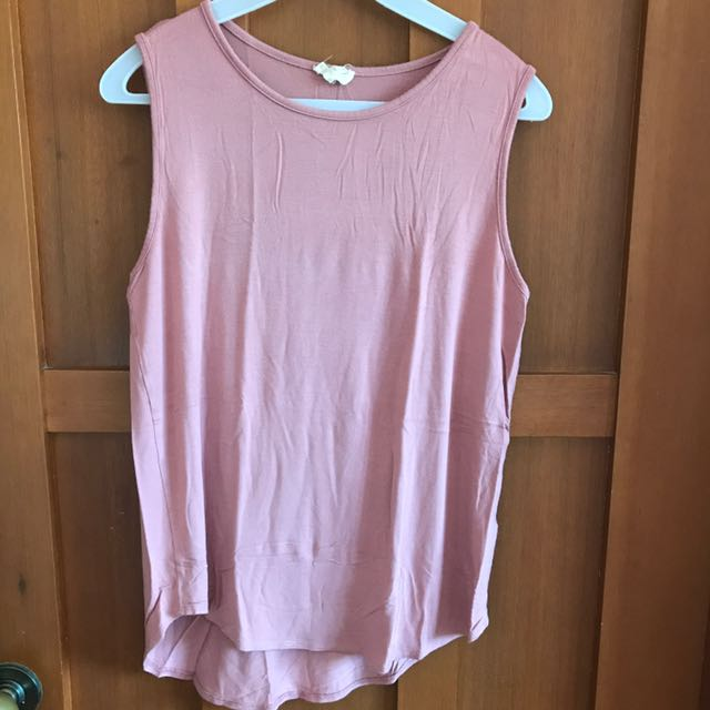 Pink Sleeveless Blouse