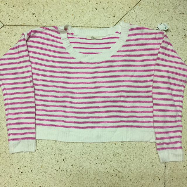 Pink Stripes Sweater
