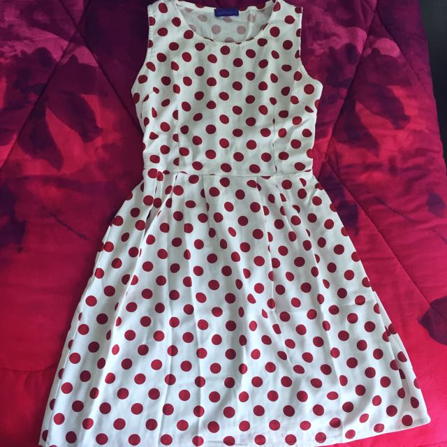Polkadot Red Dress