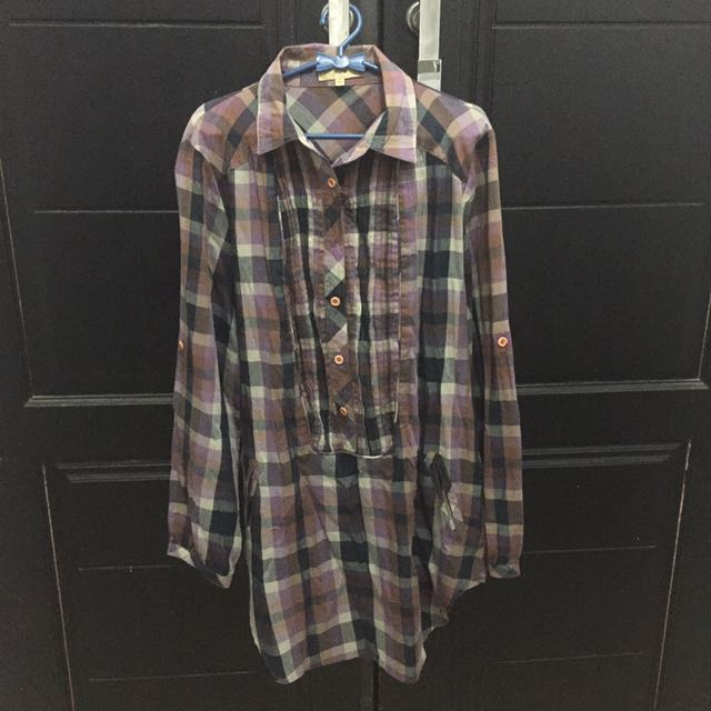 [preloved] Checkered Tunic Termuraaahhh