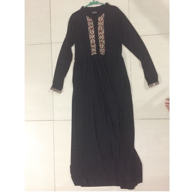 [preloved] Dress Batik Hitam MURAAAHH