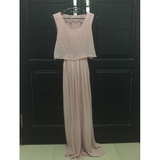 [preloved] Pink Sifon Dress