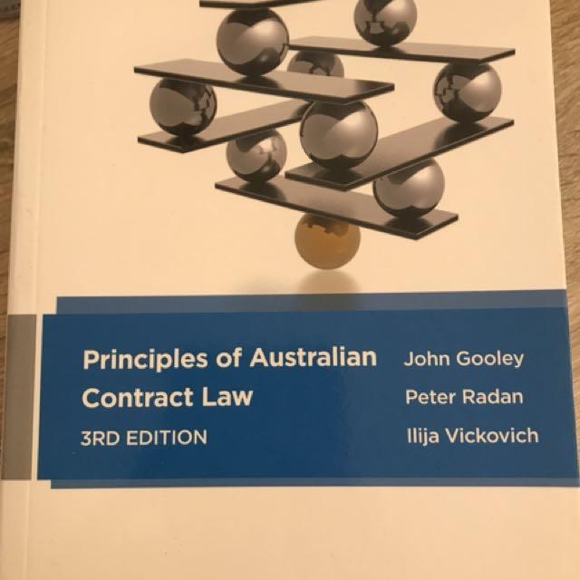 Principles Of Australian Contract Law