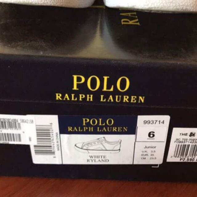 Ralph Lauren White Shoes