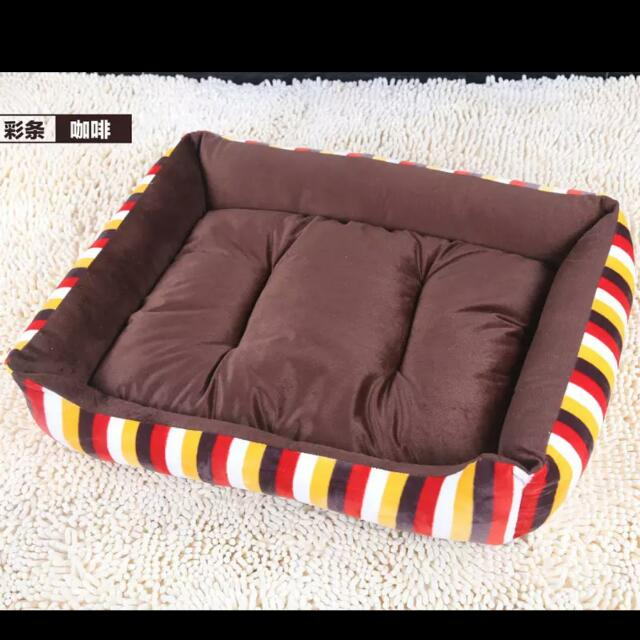 Rectangular Pet Bed With Removable Cushion 可拆洗宠物窝