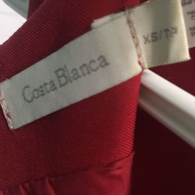 Costa Blanca Red Dress Size xs