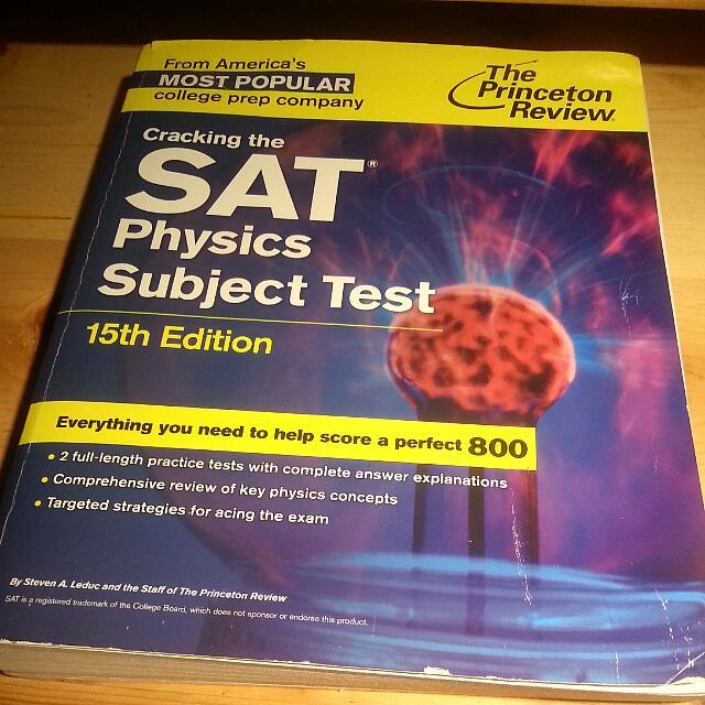 SAT Physics Subject Test Textbook (15th ed)
