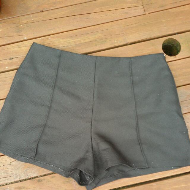 Tailored Black Shorts