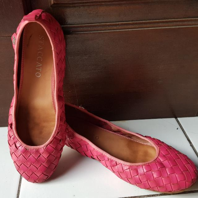 Shocking Pink  Staccato Flat Shoes