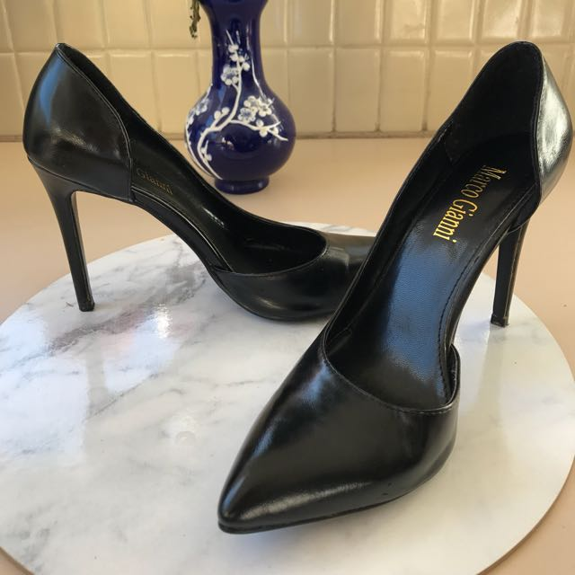 Size 39 - Black Points Marco Gianni Heels - 8cm