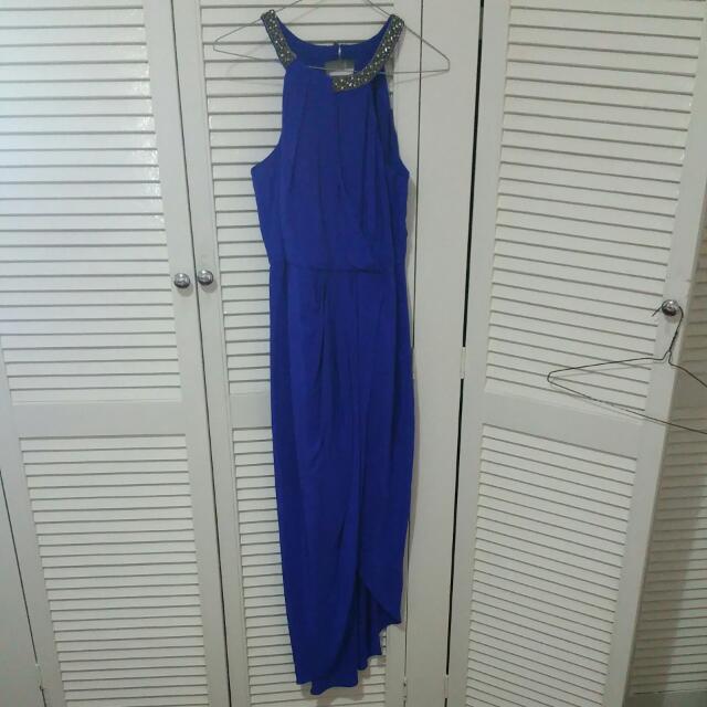 Size 8 Sapphire Blue Dress