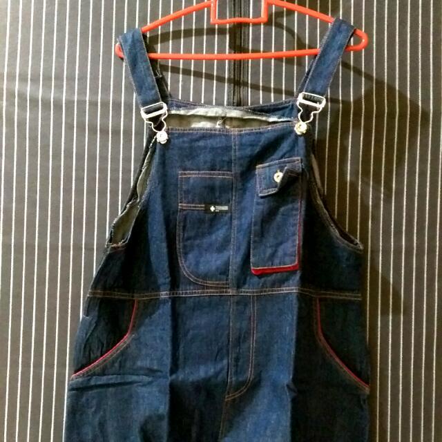 Overall Jeans Rok Pendek