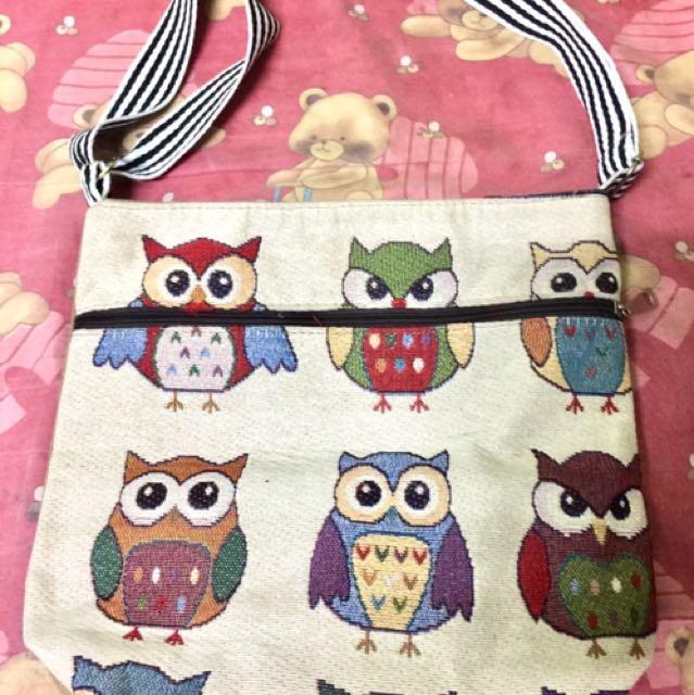 Sling Bag Owl Design