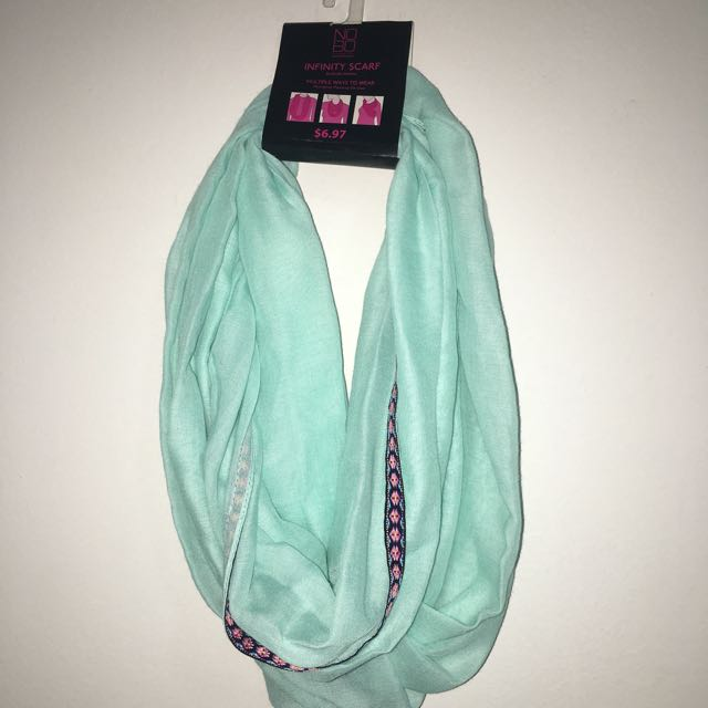 Teal Colored Infinity Scarf