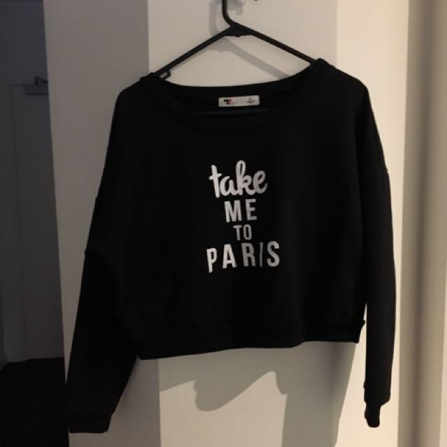 TEMP sweatshirt crop top