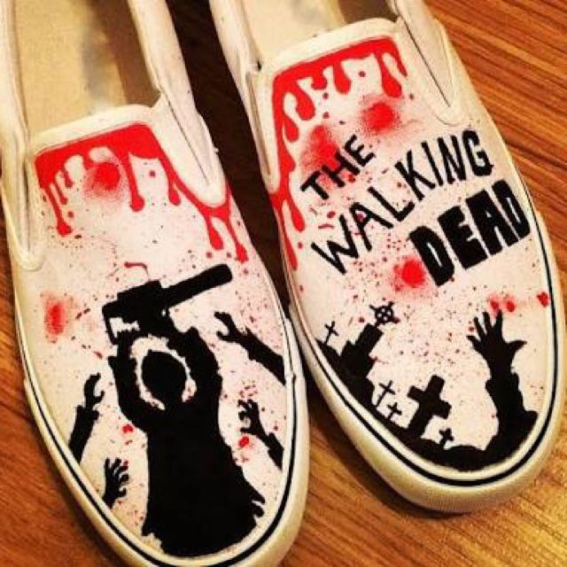 The Walking Dead Hand Painted Shoes