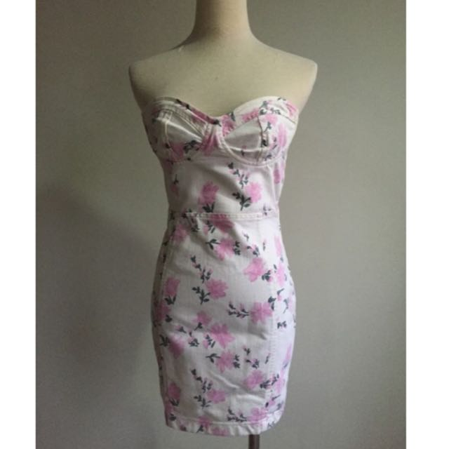 💋FREE SF💋Topshop Floral Sweetheart Dress