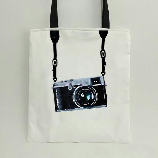 Tote Bag Camera Design #Photographer, Women's Fashion, Bags & Wallets on Carousell