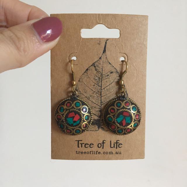 Tree Of Life Boho Earrings