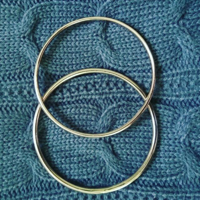 Two Rose Gold Bangles