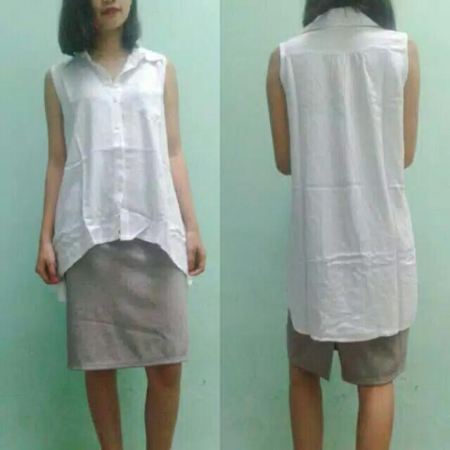 White top & pencil skirt