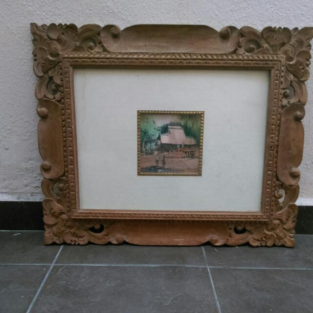 Wood Carving Picture Frame