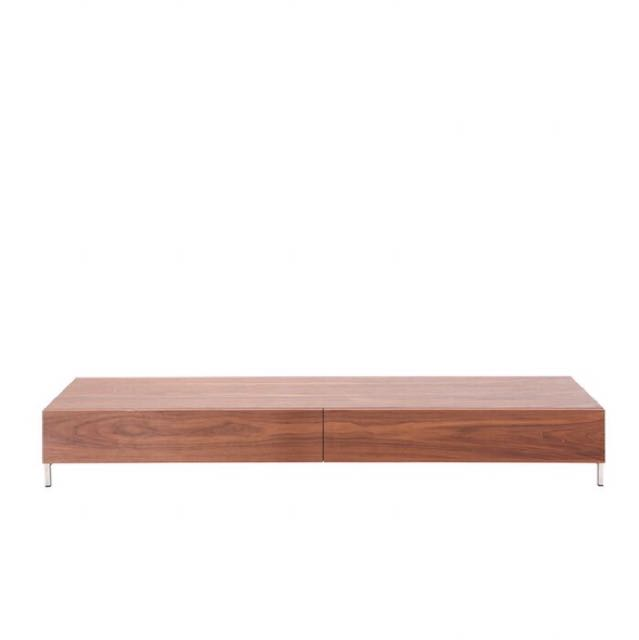 buy popular 335a1 d794c Wood TV Console (Low Profile), Furniture, Shelves & Drawers ...