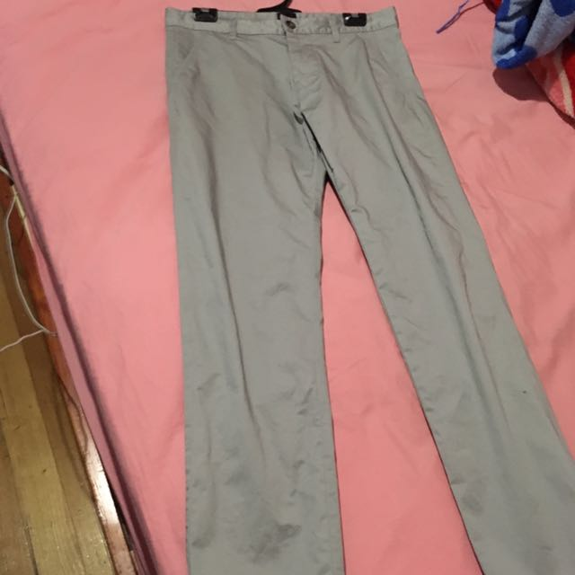 Yd Silky Grey Slim Pants Size 30