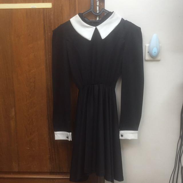 Zara Dress Black And White